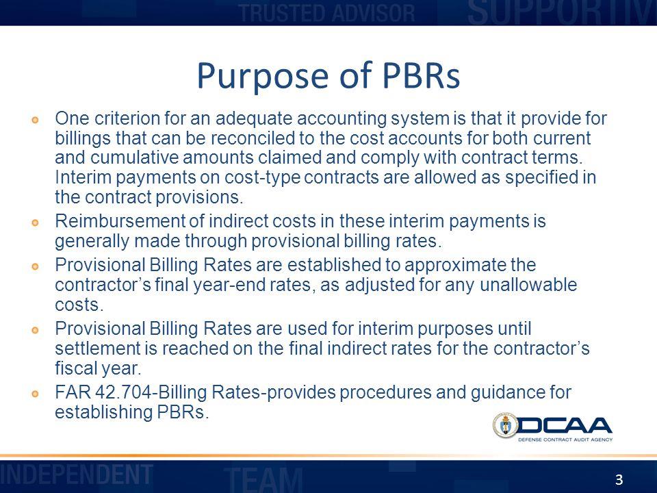 Purpose of PBRs