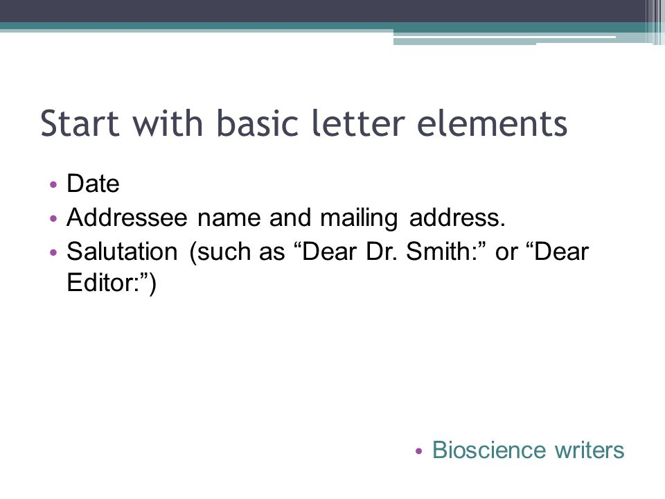Start with basic letter elements