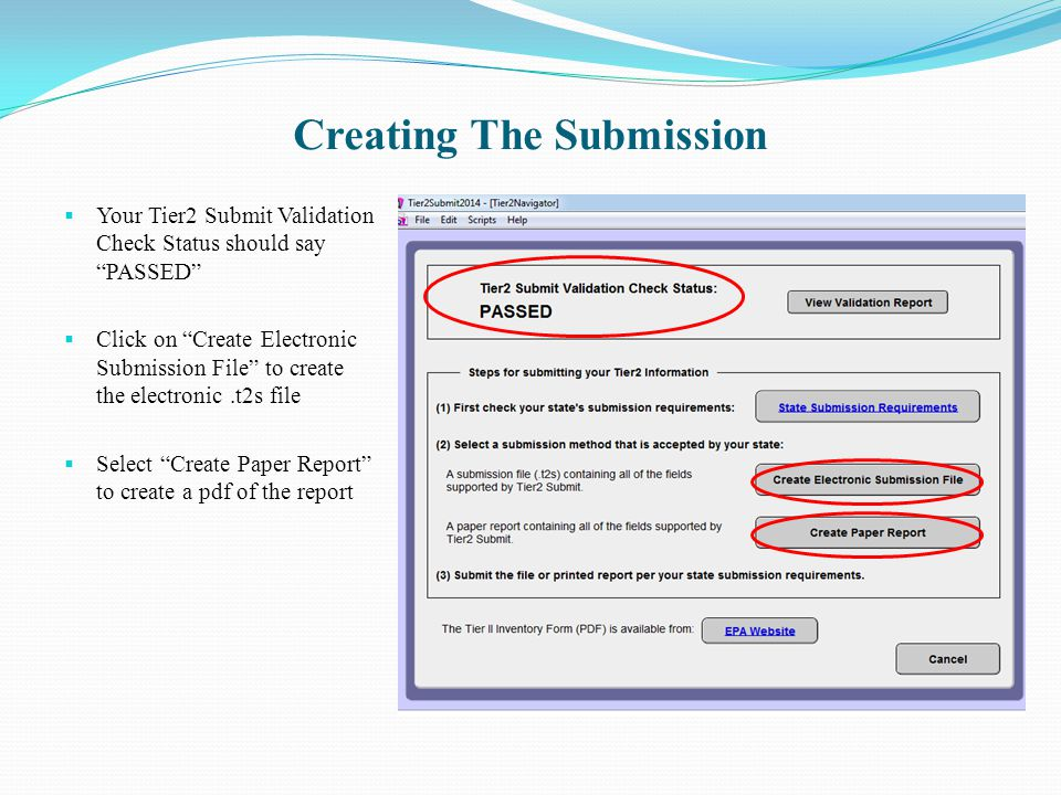 Creating The Submission