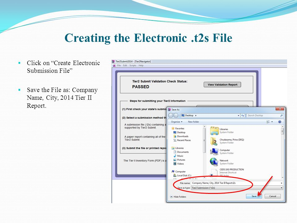 Creating the Electronic .t2s File