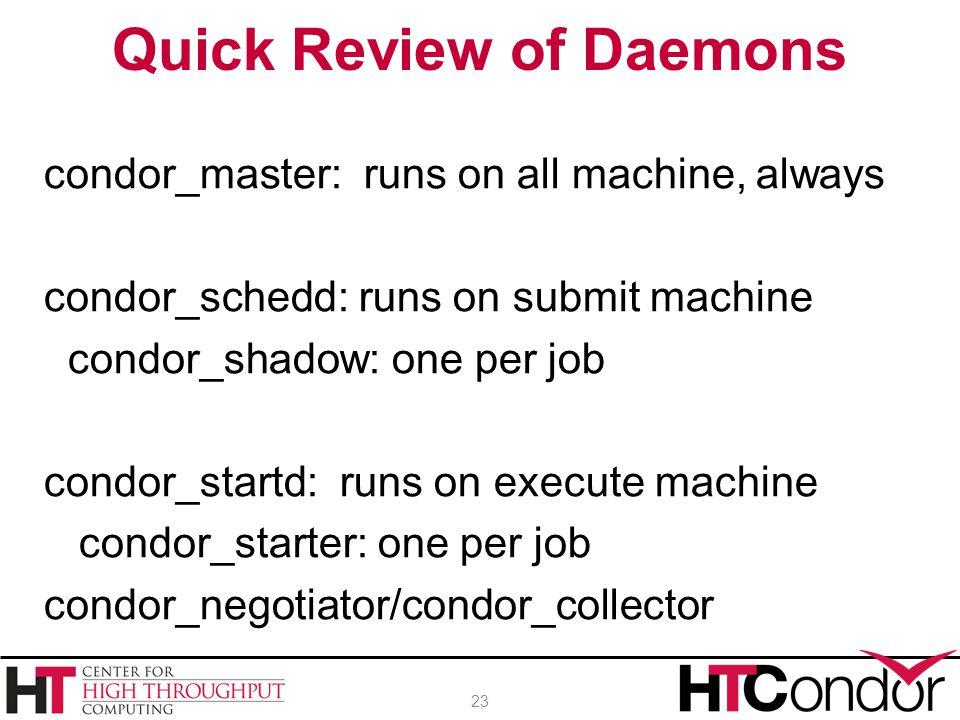 Quick Review of Daemons