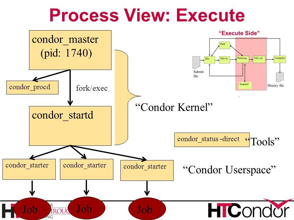 Process View: Execute condor_master (pid: 1740) Condor Kernel