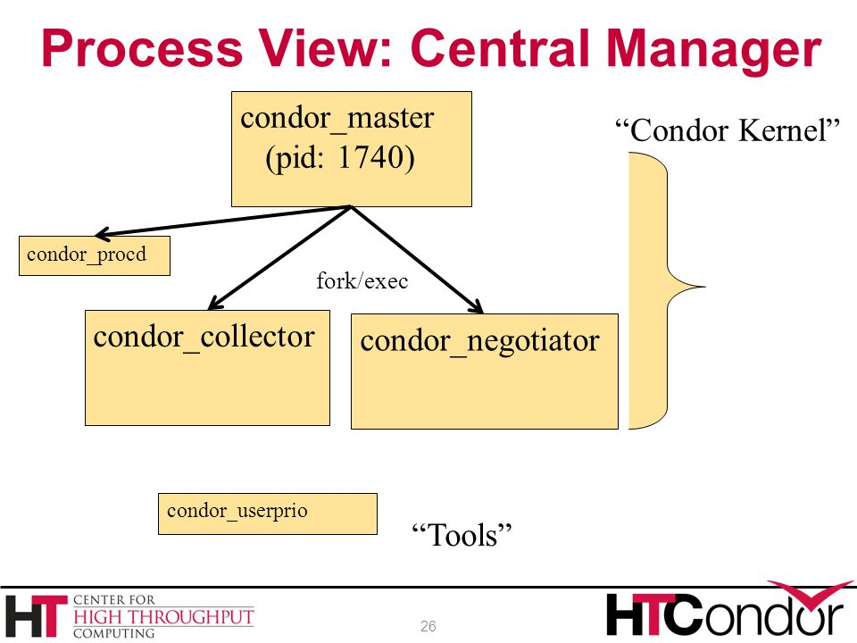 Process View: Central Manager