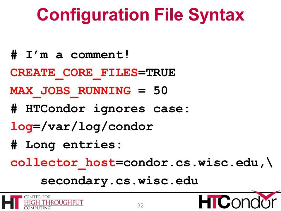 Configuration File Syntax
