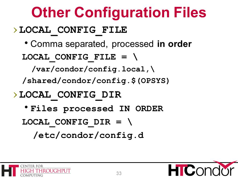 Other Configuration Files