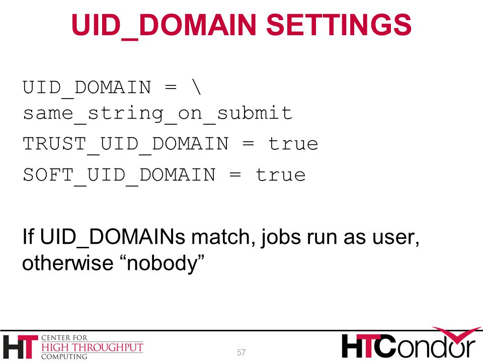 UID_DOMAIN SETTINGS