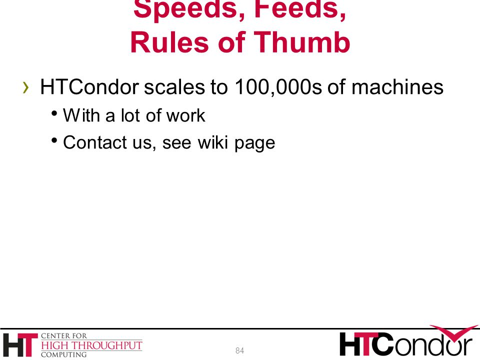 Speeds, Feeds, Rules of Thumb