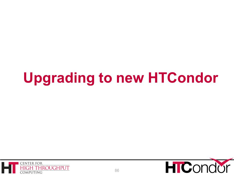 Upgrading to new HTCondor