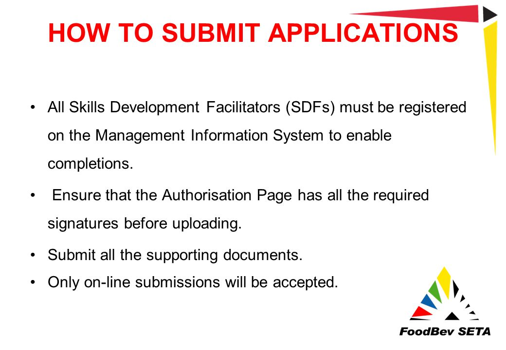 HOW TO SUBMIT APPLICATIONS
