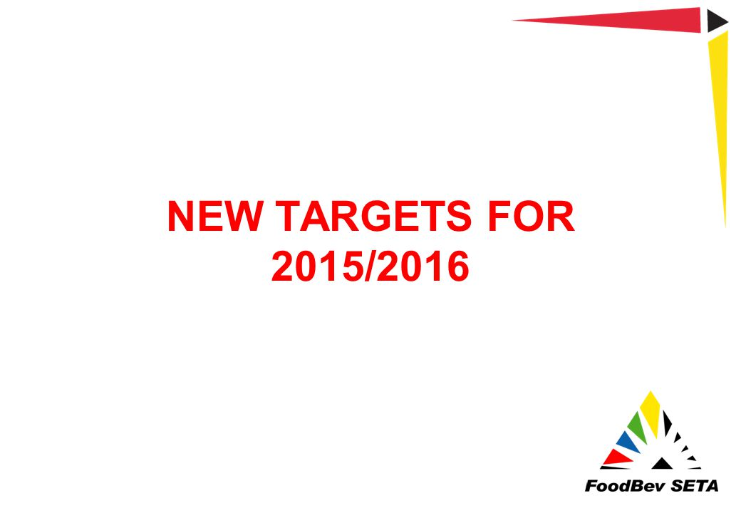 NEW TARGETS FOR 2015/2016