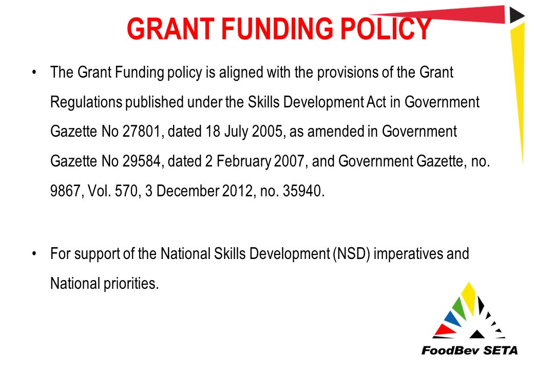GRANT FUNDING POLICY