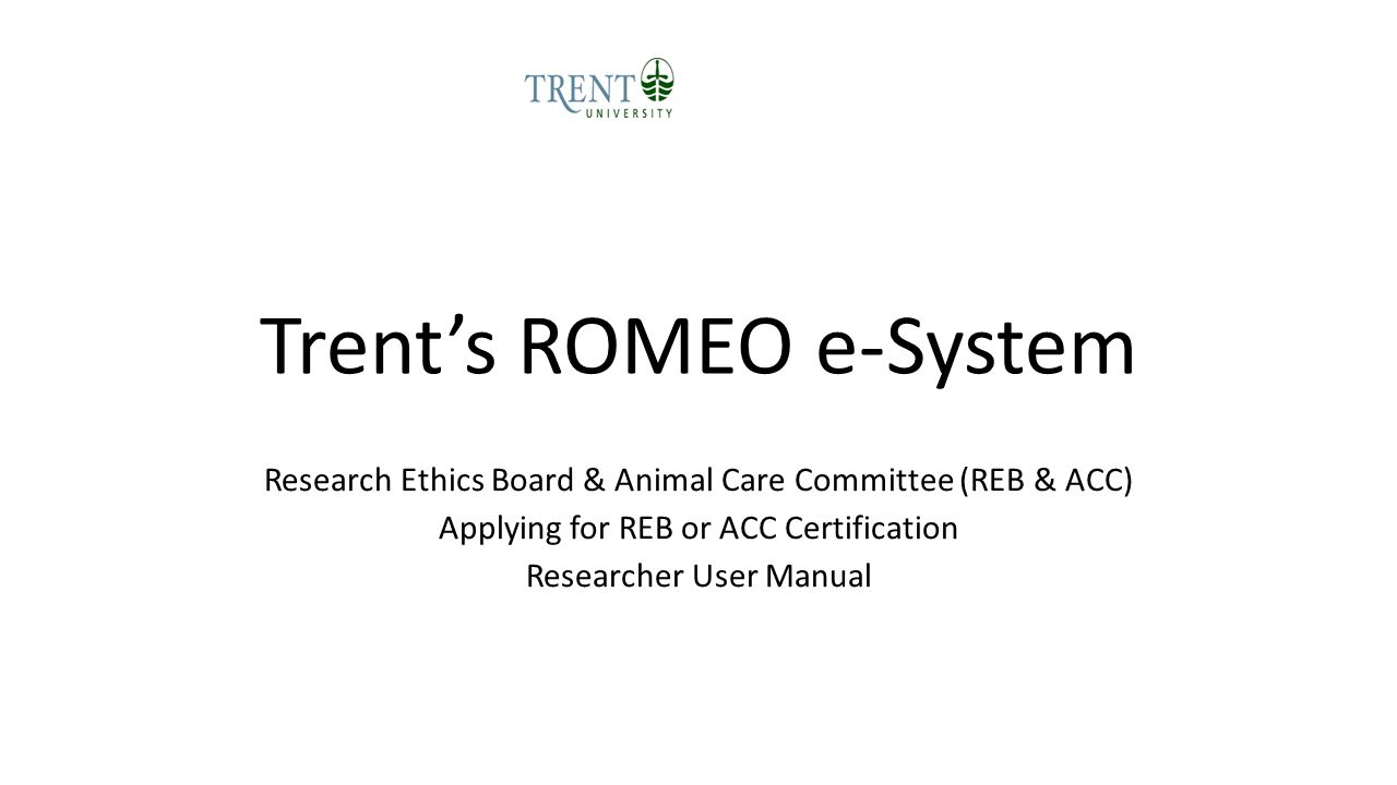 Trent's ROMEO e-System