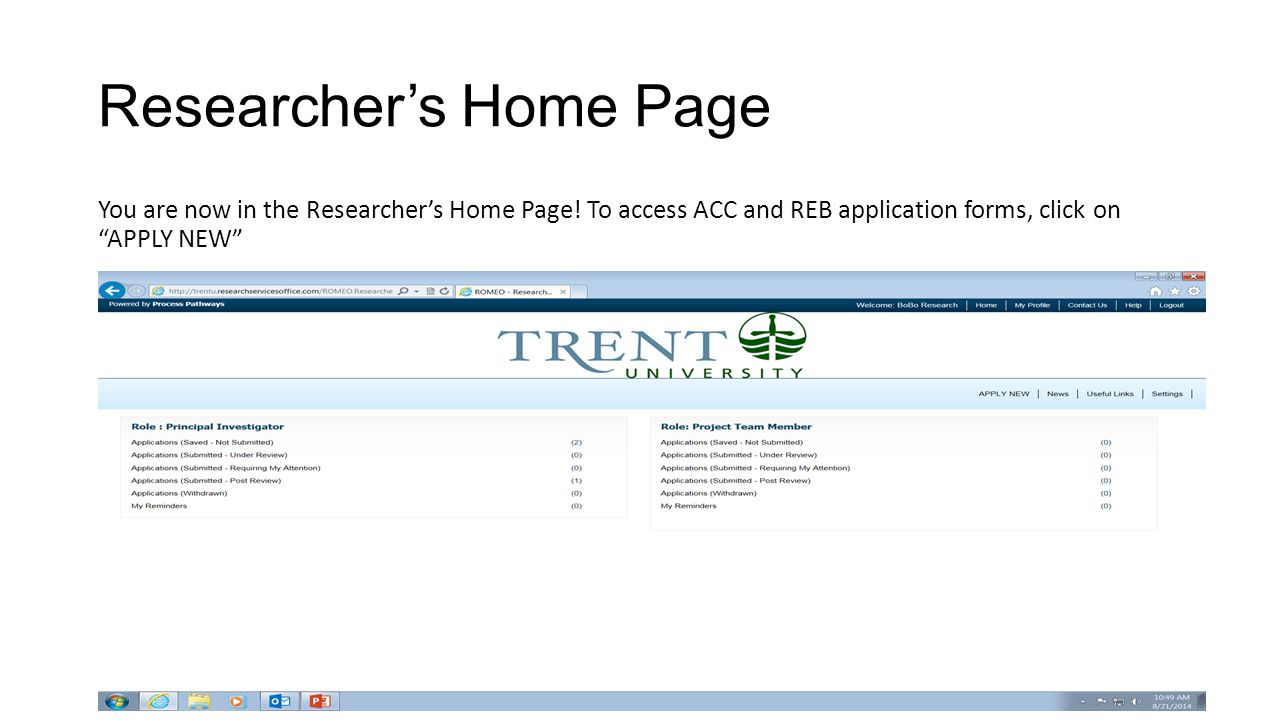 Researcher's Home Page