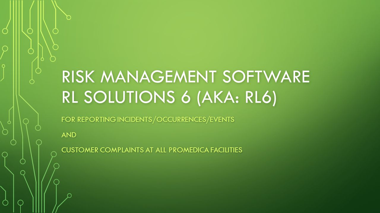 Risk management software rl Solutions 6 (aka: rl6)