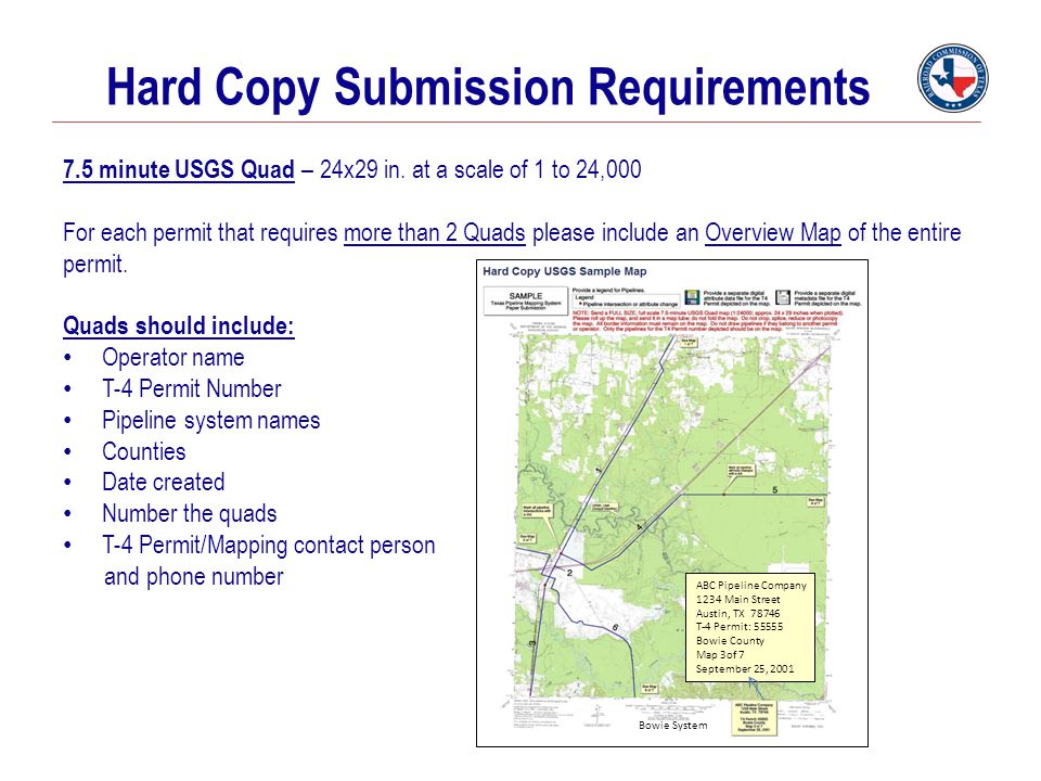 Hard Copy Submission Requirements