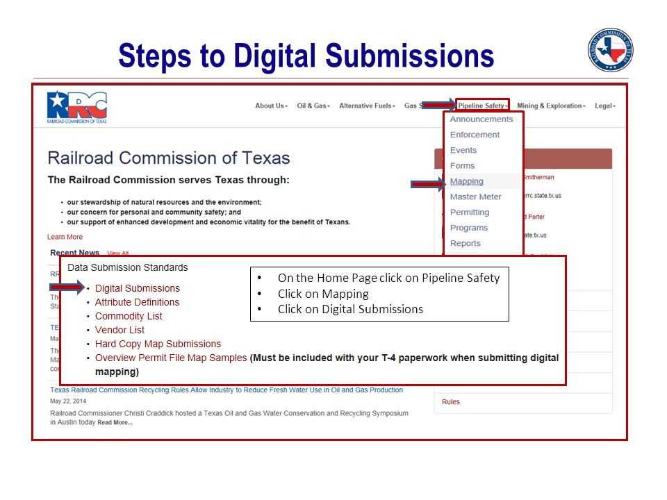 Steps to Digital Submissions