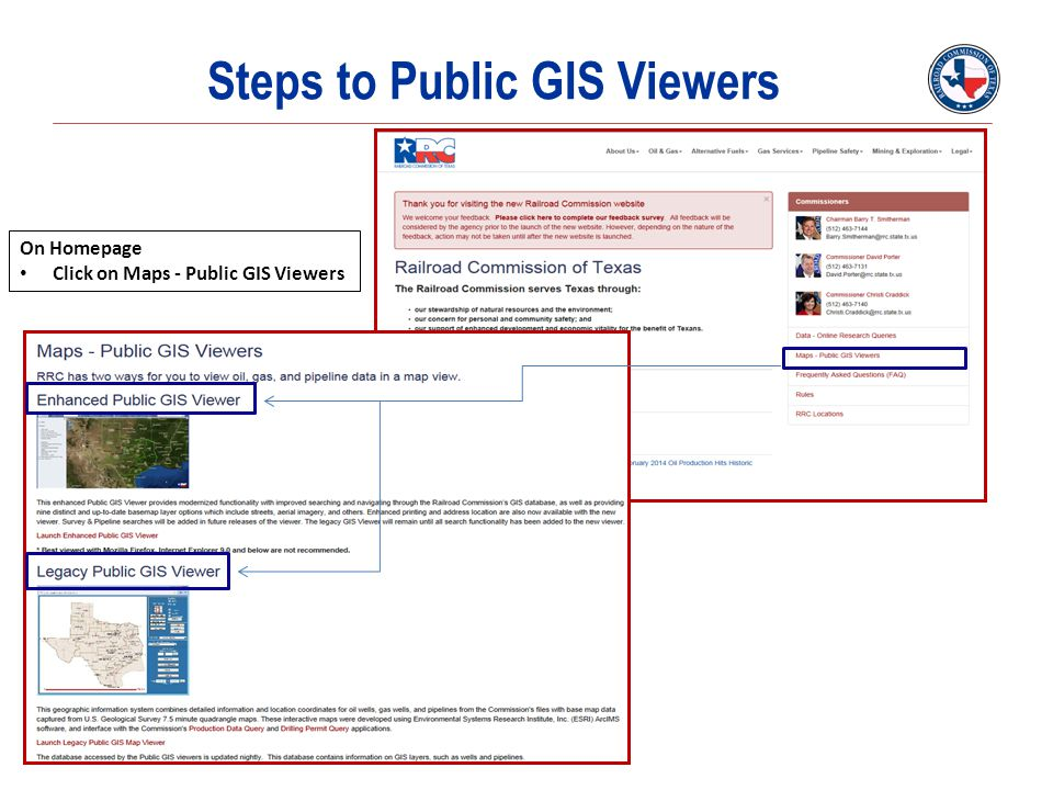 Steps to Public GIS Viewers