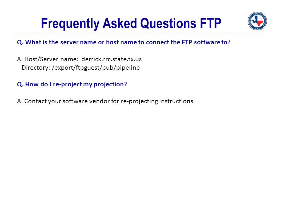 Frequently Asked Questions FTP
