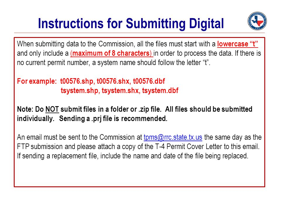 Instructions for Submitting Digital