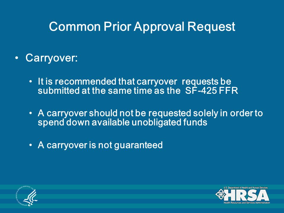 Common Prior Approval Request