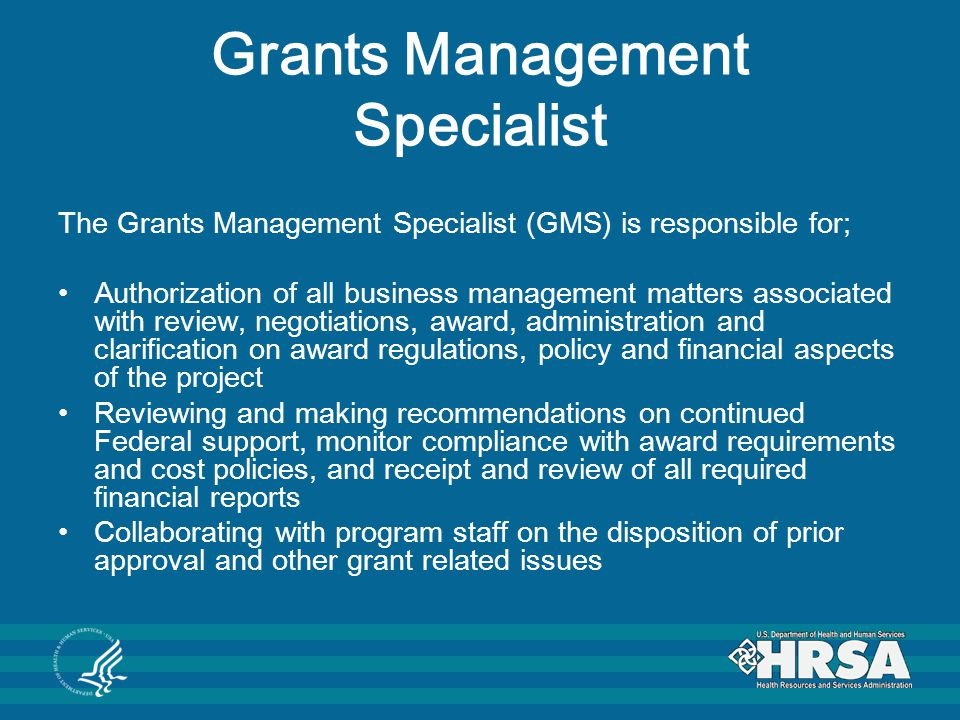 Grants Management Specialist