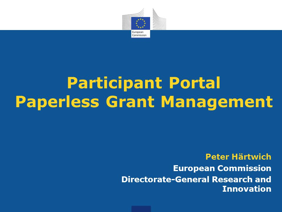 Participant Portal Paperless Grant Management