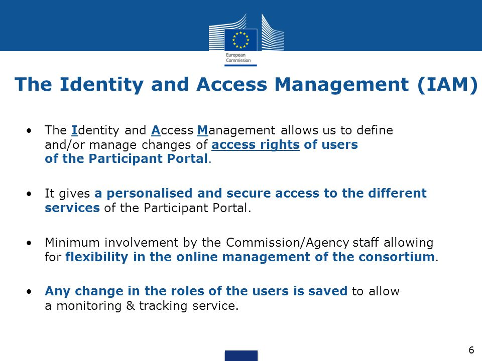 The Identity and Access Management (IAM)