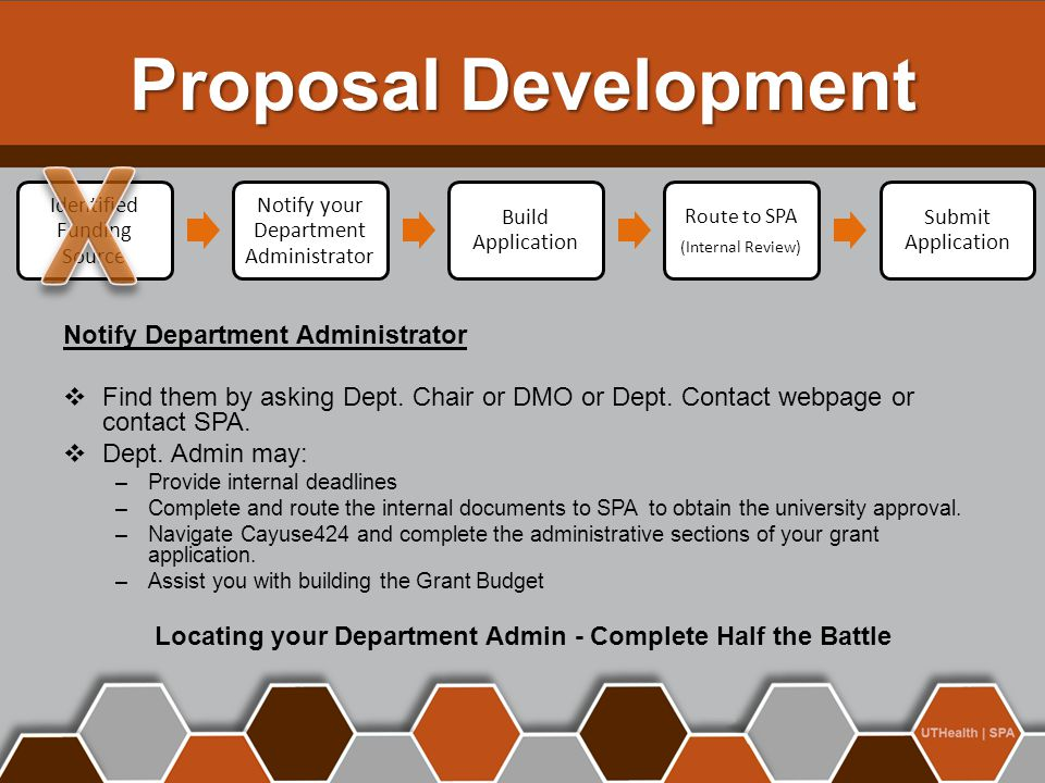 Locating your Department Admin - Complete Half the Battle