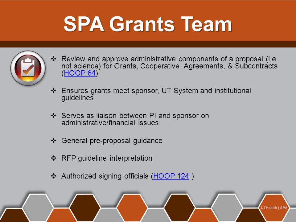 SPA Grants Team