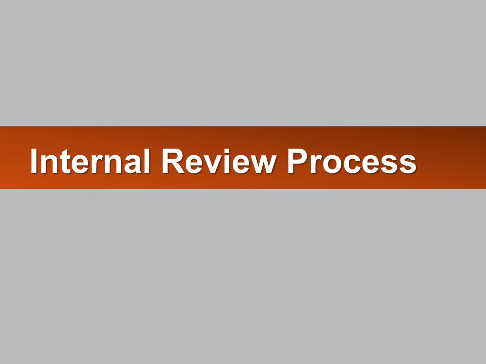 Internal Review Process