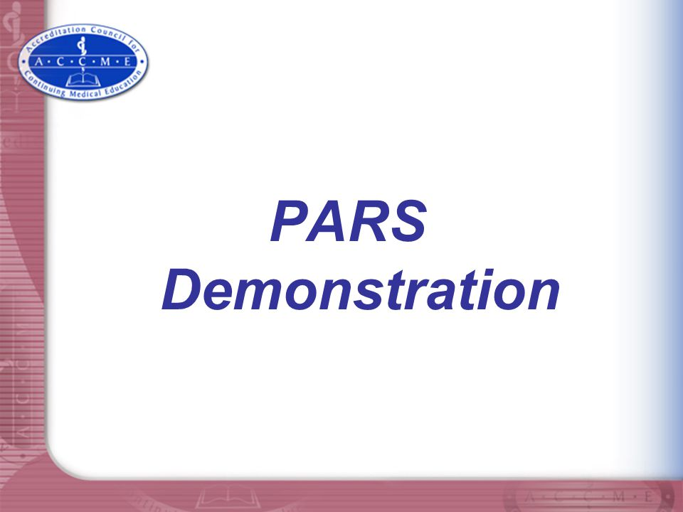 PARS Demonstration