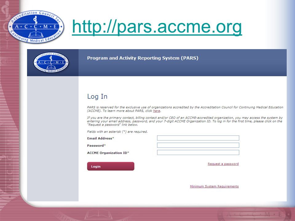http://pars.accme.org