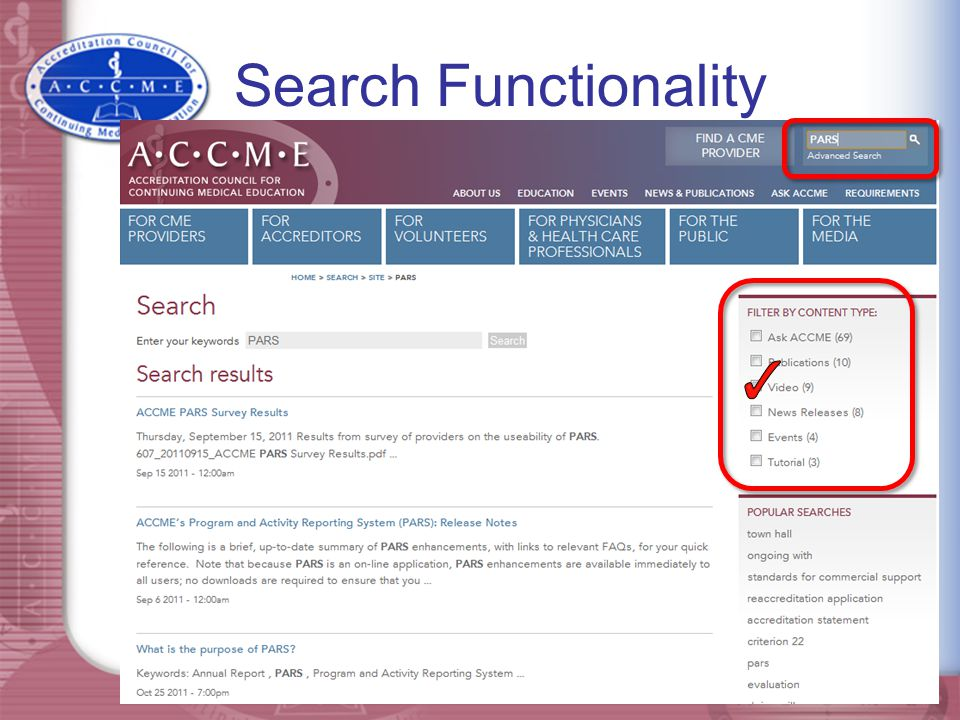 Search Functionality