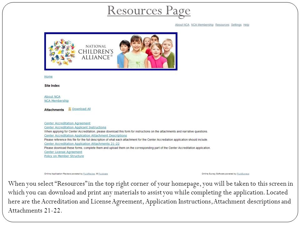 Resources Page Instructions for how to upload the Chapter Accreditation and License Agreements are located on the home page.