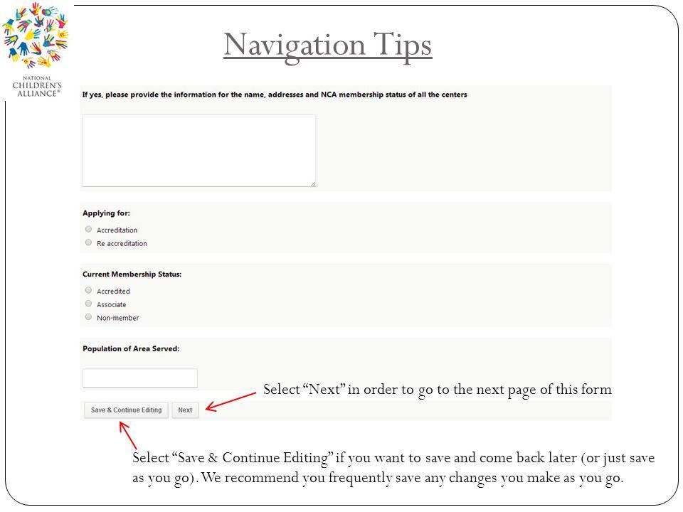 Navigation Tips