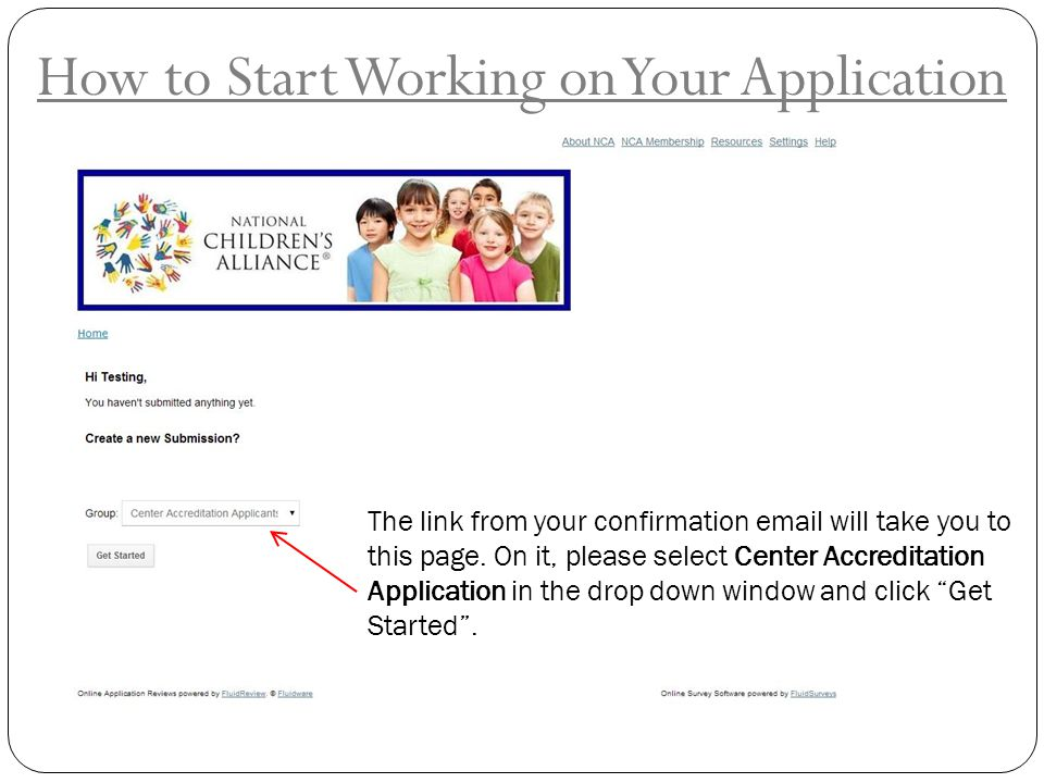 How to Start Working on Your Application