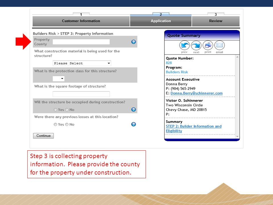Step 3 is collecting property information