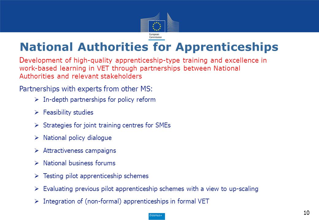 National Authorities for Apprenticeships