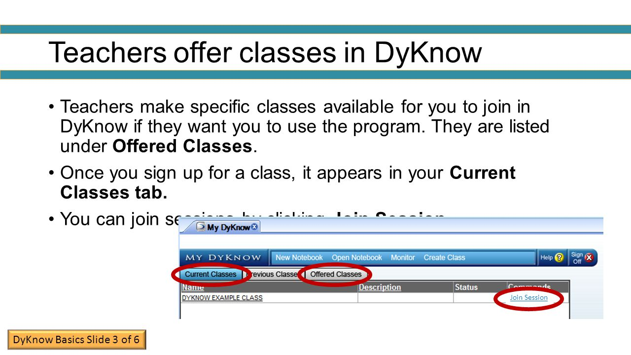 Teachers offer classes in DyKnow