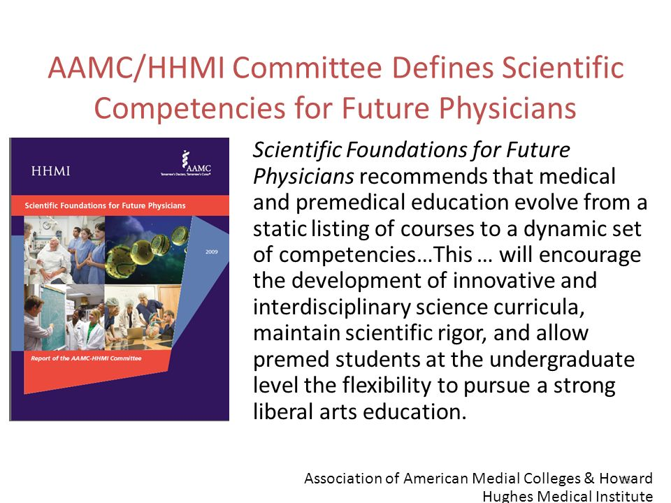 AAMC/HHMI Committee Defines Scientific Competencies for Future Physicians