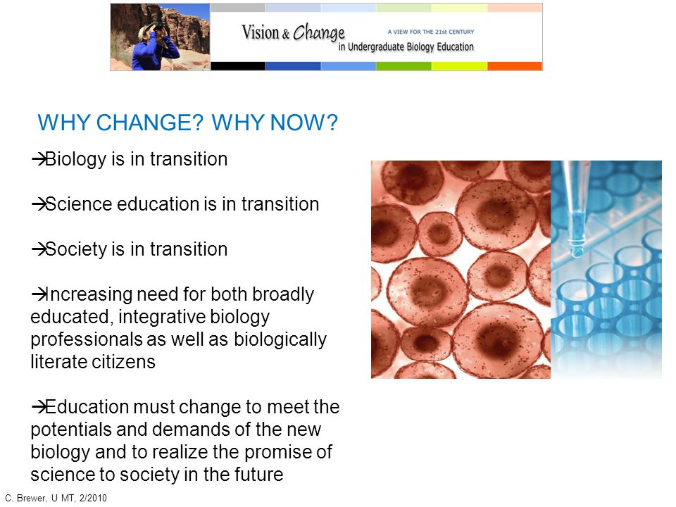 WHY CHANGE WHY NOW Biology is in transition