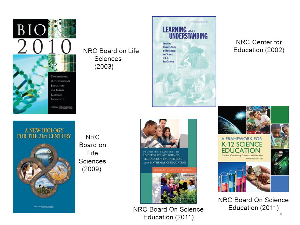 NRC Center for Education (2002) NRC Board on Life Sciences (2003)