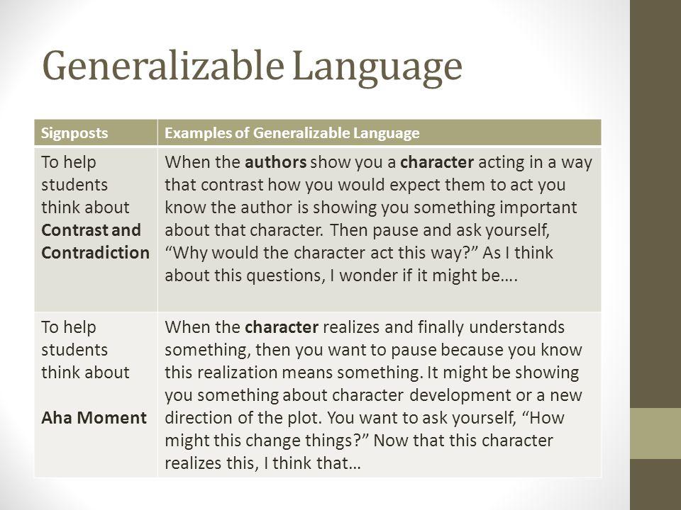 Generalizable Language
