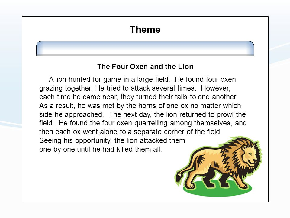 The Four Oxen and the Lion