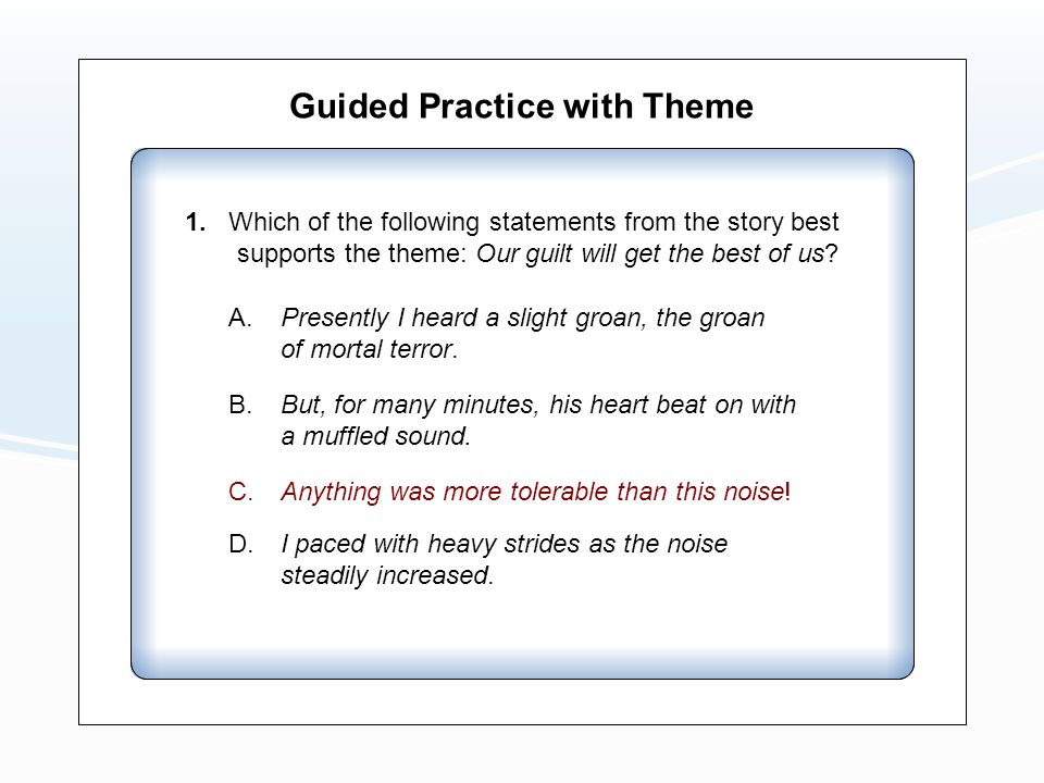 Guided Practice with Theme