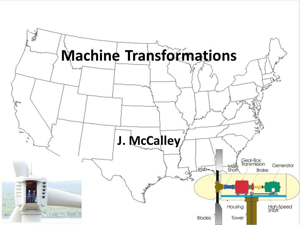 Machine Transformations