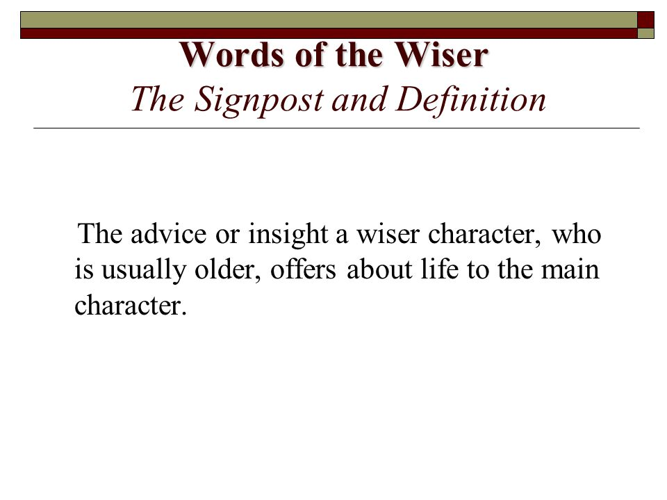 Words of the Wiser The Signpost and Definition