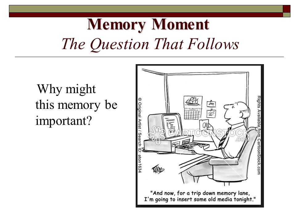 Memory Moment The Question That Follows
