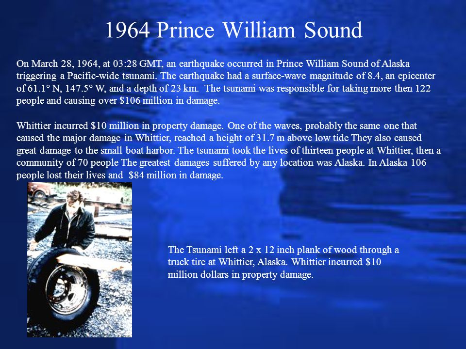 1964 Prince William Sound