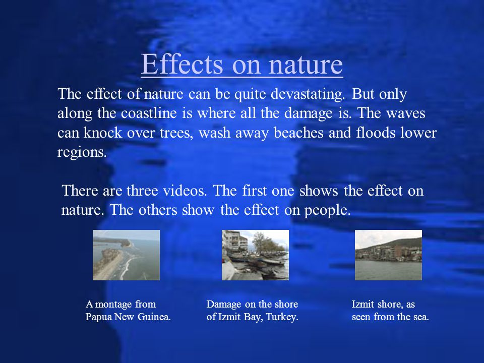 Effects on nature